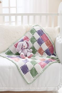 Ravelry: Quilt Look Blanket pattern by Patons