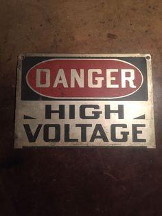 Vintage Steel Danger High Voltage Sign Signage Badge Electricity Electric  from $40.0