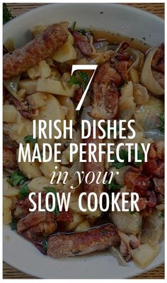 7 Irish Dishes Made Perfectly in Your Slow Cooker - Ensalada Marisco Ideas Easy Irish Recipes, Scottish Recipes, Scottish Dishes, British Recipes, Free Recipes, Slow Cooker Recipes, Crockpot Recipes, Cooking Recipes, Crockpot Dishes