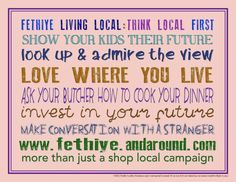 More than just a shop local campaign!  ...show your kids their future.