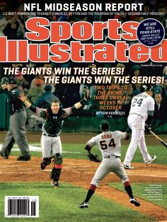 Your Cover This Week: The Giants Win The Series! The Giants Win The Series! The 2012 World Series Champions San Francisco Giants. World Series History, 2012 World Series, Si Cover, San Francisco Giants Baseball, Sports Illustrated Covers, T Power, My Giants, Thing 1, Buster Posey