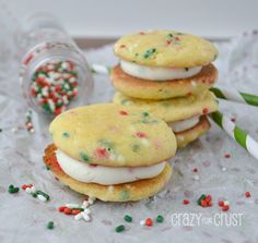 Thin Sugar Cookies with Sprinkles - Crazy for Crust