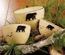 Black Bear Serving/Mixing Bowl Set - 3 pcs