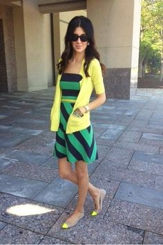 the dress. the FLATS! the colors. Love.