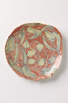 """exotic plant plate by   Ruan Hoffmann from his 2010-2011 """"Much Love Me"""" collection."""
