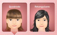 Selecione o formato da sua face e veja looks de famosas para inspirar na próxima ida ao salão.
