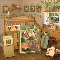 NoJo Jungle Babies 6 Piece Crib Bedding Set (Discontinued by Manufacturer) NoJo