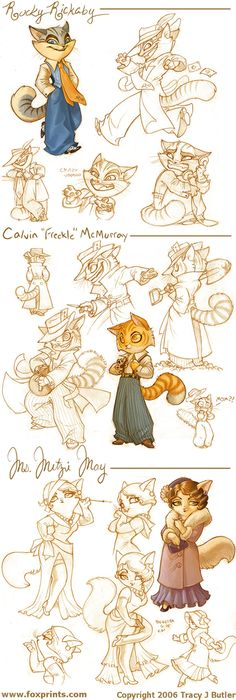 Lackadaisy Cats by *tracyjb on deviantART
