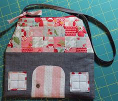 Zakka Style House pouch. Would be cute for little girl with cloth dolls inside