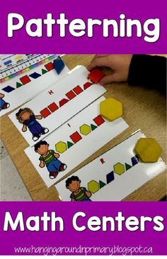 Get your students excited about math with these hands-on math centers to teach patterning skills.