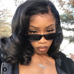 Nails Black Girl Short Ideas For 2019 Pretty Black Girls, Beautiful Black Women, Makeup Black, Brown Skin Makeup, Black Girl Makeup Natural, Sunglasses For Your Face Shape, Curly Hair Styles, Natural Hair Styles, Ponytail Styles