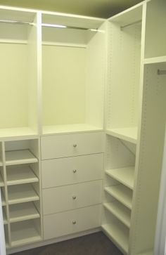 small walk in closet built ins. Want to do something like this!