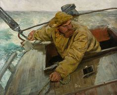 Hardt le [Hard alee], Nasjonalmuseet, Oslo by Christian Krohg (Norwegian, Skagen, Nautical Art, Scandinavian Art, Drawing People, Les Oeuvres, Painting & Drawing, Oil On Canvas, Art Pieces, Old Things