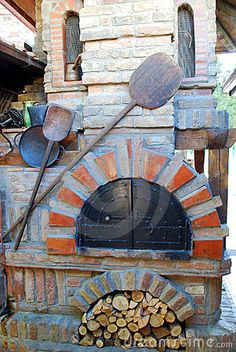 Photo About Open Old Bakery Stove With Peel