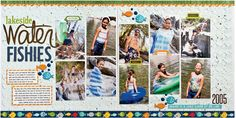 2 pages, 10 photos | Lakeside Water Fishies layout by Laura Vegas for SCTMagazine