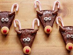 Christmas Reindeer Brownies recipe from Food Network Kitchen via Food Network