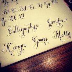 #calligraphy #flourishes using oblique pen and 303 nib