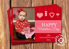 Valentine's Day Photo Cards by FromHeadtoToeDesigns on Etsy