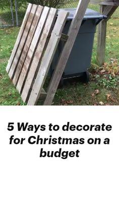 Christmas On A Budget, Cheap Christmas, Outdoor Christmas, Christmas Art, Christmas Projects, Simple Christmas, Christmas Holidays, Christmas Wreaths, Christmas Ideas