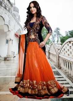 New Lehenga Choli Designs: Girls who are searching for newest lehenga choli designs for various festivals@ http://www.shadesandyou.com/product-category/lehngas/  #BridalLehengaCholi #LehengaStyleSaree #FloorLengthGowns