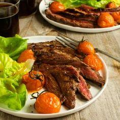 Balsamic Glazed Skirt Steak... Thanks Lisa, next weeks dinner plans
