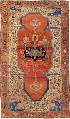 "ANTIQUE SERAPI CARPET North West Persia c1890 4.60m x 2.76m 15' 1"" x 9' 1"" I Robert Stephenson handmade carpets"