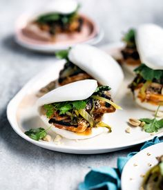 Peanut-butter tofu buns with burnt chilli mayo.  I really want to make these - anyone know somewhere selling fresh bau in Brisbane?