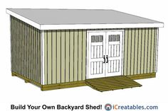 Amazing Shed Plans - Lean To Shed Plans. - Now You Can Build ANY Shed In A Weekend Even If You've Zero Woodworking Experience! Start building amazing sheds the easier way with a collection of shed plans! 12x20 Shed Plans, Lean To Shed Plans, Free Shed Plans, Shed Building Plans, Outdoor Storage Sheds, Storage Shed Plans, Outdoor Sheds, Garage Storage, Diy Storage