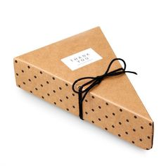 Black-dotted-Cake-Slice-Gift-Bag-Box-Wedding-Party-Favour-Birthday-ONLY-BOX