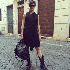 #dress#yohjiyamamoto, #boots#drmartens, #sunglasses#marcjacobs