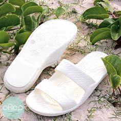 White Jandals® -- Pali Hawaii Hawaiian Jesus Sandals