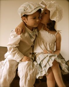 darling brother sister outfit! (love the cream color)