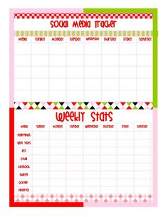 Blogging and social media printables