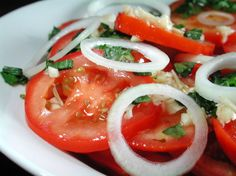 This is a recipe that I use when I have fresh tomatoes and basil from our garden. The fresher the tomatoes, the better the salad.