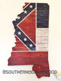Mississippi flag wall art