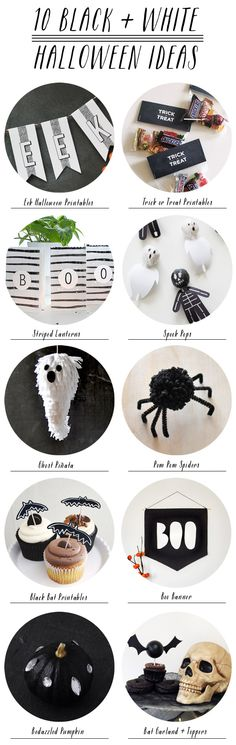 10 Black + White Halloween Ideas