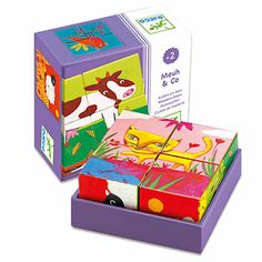 Djeco 4 Cube Wood Farm is ideal for toddlers! Shop today wooden puzzles and educational toys online for children od all ages. Free gift wrapping too. Wooden Puzzles, Toys Online, Educational Toys, Toy Chest, Gifts For Kids, Children, Baby Books, Products, Creativity