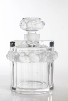 Lalique Robinson Sparrow Frosted Crystal Perfume Bottle LL19LL