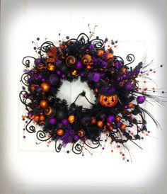 Hey, I found this really awesome Etsy listing at https://www.etsy.com/listing/243009213/jack-o-lantern-wreath-halloween-wreath