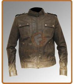 Slim Fit Men's Rider Metallic Green Stylish Jacket