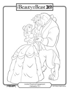 Beauty And The Beast Coloring Page The Beast Books and Movies