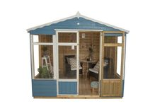 Buy Forest Garden Oakley Summerhouse - Overlap Pressure Treated 8 x 6 from Keen Gardener now, in stock with fast delivery and fantastic savings off the recommended retail price! Garden Structures, Outdoor Structures, Bistro Patio Set, Outdoor Buildings, Garden Buildings, Roof Covering, Forest Garden, Double Doors, Garden Furniture