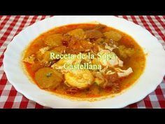 Receta fácil y rápida de la sopa Castellana - YouTube