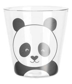 Print-motif glass - Clear glass/Panda - Home All Panda, Motifs Animal, H&m Home, Transparent, Girl Birthday, Clear Glass, Cool Things To Buy, Tableware, Amber