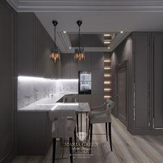 A sleek two-room apartment in Saint Petersburg – Maria Green – Interior Designer Luxury Interior, Interior Design, Mirror Ceiling, Residential Complex, One Bedroom Apartment, Design Projects, Minimalism, Kitchen Design, Art Deco