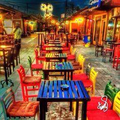 Gjakova city at night with lots of caffe bar  #Gjakove #Gjakova #Kosovo
