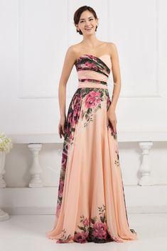Kwiatowa długa suknia dekolt serduszko   kwiatowa elegancka sukienka na wesele, studniówki