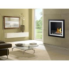Offering an upscale and streamlined design coupled with the piece of mind you get from a UL/CUL listing, the Antalia Recessed Wall Ethanol Fireplace is a convenient, easy and economical way to install a fireplace.