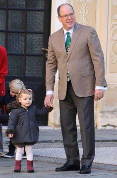 La Navidad llegó al palacio de Mónaco