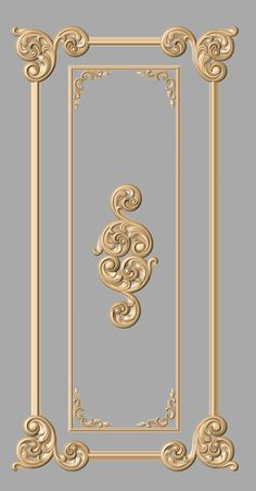 a bit darker gold for bkcase Porte Design, Door Design, Wall Design, Design Design, Classic Interior, Home Interior Design, Wood Carving Designs, Wall Molding, Moldings